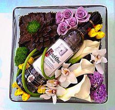 Orquídeas + Calas + Vino