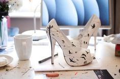 Handmade Iron Fist shoes by Lora Zombie.