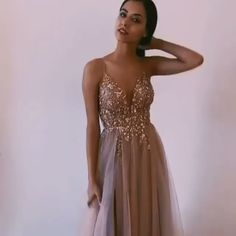 Backless Tulle Beaded Prom Dresses Party Dresses with Spaghetti Straps - Informationen zu Backless Tulle Beaded Prom Dresses Party Dresses with Spaghetti Straps Pin - Baby Pink Prom Dresses, Pink Formal Dresses, Pretty Prom Dresses, Grad Dresses, Prom Party Dresses, Ball Dresses, Evening Dresses, Bridesmaid Dresses, Long Prom Dresses