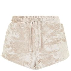 TopShop Crushed Velvet Runner Shorts (46 CAD) ❤ liked on Polyvore featuring activewear and activewear shorts