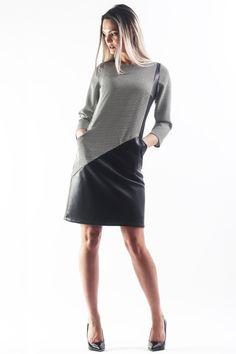Work Fashion, Elegant Dresses, Streetwear, Leather Skirt, City, Skirts, Street Outfit, Stylish Dresses, Skirt