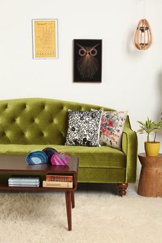 I want this couch!!  Ava Velvet Tufted Sleeper Sofa - Urban Outfitters