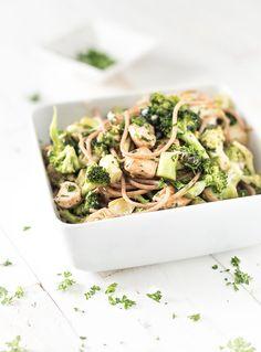 Romige broccoli met kip en volkorenpasta-Voedzaam & Snel