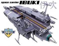 EDF Space Carrier Ibuki (Space Battleship Yamato- Starblazers universe)