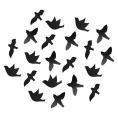 Going to make the living room look like birds are flying (in a flock) from the front window to the door!