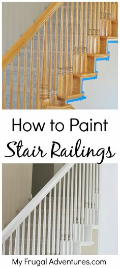 This has been the latest project in our home- painting the old builder grade oak stairwells and railings.  This was a lot of work but it was a pretty cheap project and the difference is remarkable....