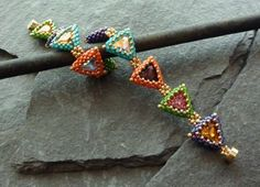 Beaded Peyote Triangles: Part II: More Ideas, Patterns, and Stunning Jewelry Inspiration | HubPages