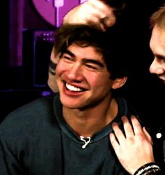 his smile slowly starts to fade after Mikey lets go of him that just so adorable Calum Hood, Calum Thomas Hood, Luke Hemmings, Wattpad, Love Of My Life, My Love, 5secondsofsummer, Michael Clifford, 1d And 5sos