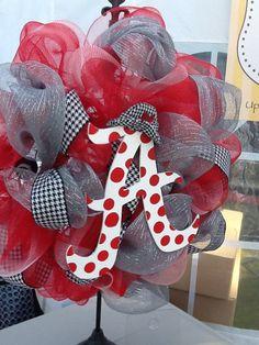 Alabama Crimson Tide Deco Mesh Wreath by UpsiedoodlesDesigns