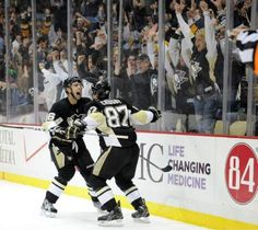 PENGUINS 3, BOSTON 2 — Brandon Sutter tallies twice to lead a 3rd period comeback as the Pens stun the Bruins.  The 3-2 win is also the Pens' sixth straight victory.  Tuesday, March, 12. 2013, at Consol Energy Center.