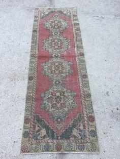 9x2.8 feet 274x85 cm, SOFA RUNNER RUG, Turkish Runner Traditional Floor Rug Runner Runners Turkish Runner Home Decor Runner Handmade Runner