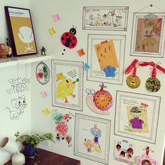 On Walls/IKEA/セリア/ワイヤークラフト/子供の絵/こどもの絵...などのインテリア実例 - 2014-06-24 07:50:43