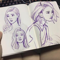 "16.2k Likes, 48 Comments - M ; 虾面 FANIME #508 (@prawnm33) on Instagram: ""Touched up some of my sketches of Chaeyoung, Dahyun and an unrecognisable Mina ! Like Ooh Ah is…"""