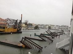 Walkway to docks on Street in Sea Isle City, washed away! Atlantic City, Atlantic Ocean, Avalon Beach, Sea Isle City, Ocean City Nj, Hurricane Sandy, Cape May, Beautiful Stories