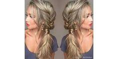 Resultado de imagem para trança só de um lado do cabelo