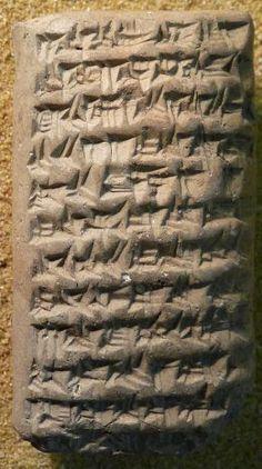 Cuneiform, the universal written language in Ancient Mesopotamia.