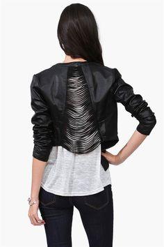 Shredded Leather Jacket