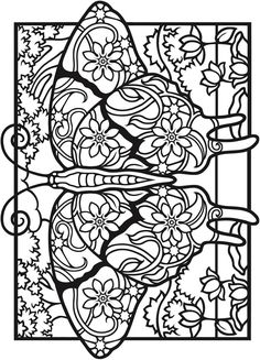 Creative Haven Fantasy Butterflies Coloring Book -- 5 sample pages