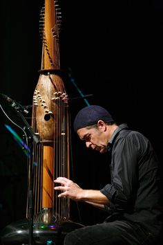 Victor Gama`, seen here playing a Toha in Cuba, is a composer and designer of contemporary musical instruments. He performs solo, with his trio or with ensembles.