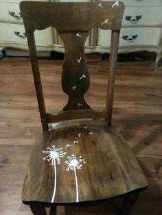 Upcycled rocking chair #DIY #rockingchair #Dandelion