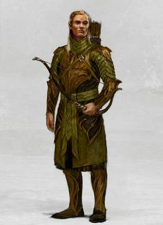 "Concept art for a Mirkwood elf from ""The Hobbit"" trilogy (2012-2014)."