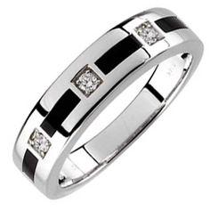 Guys White Gold Wedding Ring