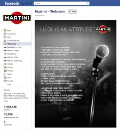 Tab Facebook: Martini