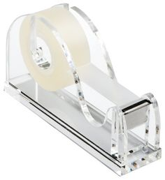 Acrylic Tape Dispenser modern desk accessories - The Container Store