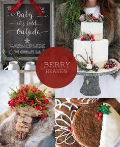 Hot Christmas Winter Wedding Color Palette Ideas | http://www.tulleandchantilly.com/blog/hot-christmas-winter-wedding-color-palette-ideas/