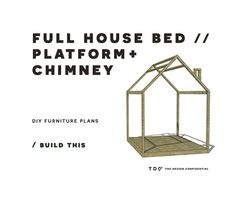 "At long last, we have the plans for another version of the twin sized house bed playhouse! You all loved the original twin sized version so much that I am rolling out the other requested sizes. Hopefully this will let you build for your purposes! Yahoo…, Plans for the Original Twin Bed, Toddler House Bed, Toddler Bed Rail, and … Continue reading ""DIY Furniture Plans // How to Build a Full Sized House Bed"""