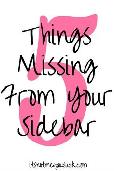 5 Things Missing Fro