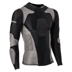 Century Long Sleeve Padded Compression Shirt Black - 14244-010212