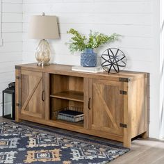 Rustic Oak Farmhouse TV Stand with Barn Doors (58 Inch) | RC Willey Furniture Store