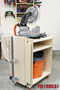 How to build a Mobile Miter Saw Station full of features and perfect for your shop. Full detailed build walkthrough and DIY miter saw stand plans inside!