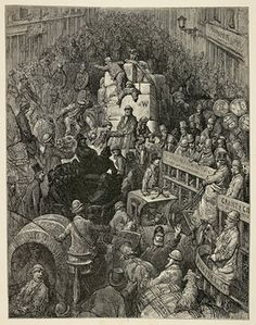 Pickle-Herring Street ... 'At the cost of sundry blows and much buffeting from the hastening crowds, we make notes of Pickle-Herring Street: now pushed to the road, and now driven against the wall.'