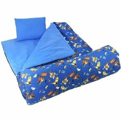 Cowboy Sleeping Bag with Matching Pillow & Storage Bag Pillow Storage, Bag Storage, Camping Essentials, Camping Gear, Sweet Dreams Baby, Mermaid Kids, Kids Sleeping Bags, Cotton Polyester Fabric, Kids Bags