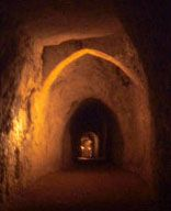 Hell Fire Caves, West Wycombe were excavated during mid 18th century, meeting place of Hellfire Club.