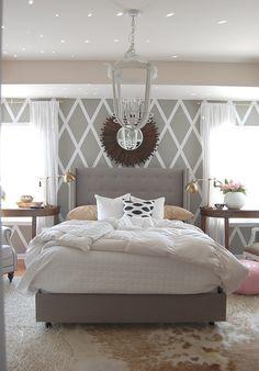 Tufted Bed Bedrooms Home Bedroom Bedroom Decor White Gray Bedroom Dream Bedroom, Home Bedroom, Bedroom Decor, Girls Bedroom, Master Bedrooms, Bedroom Colors, Dream Rooms, Bedroom Furniture, Modern Bedroom