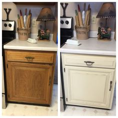 Waverly brand chalk paint...no prepping, priming, or sanding! So happy!