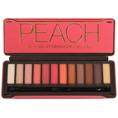 BYS Peaches Eyeshadow Palette features an array of 12 expertly chosen, highly pigmented matte & metallic eyeshadows. The 12 piece palette comes housed in a modern, embossed tin, featuring a mirror and 2 dual end applicators. Natural Eyeshadow, Shimmer Eyeshadow, Eyeshadow Primer, Eye Primer, Eyeshadow Palette, Eyeshadows, Bronzer Makeup, Body Makeup, No Eyeliner Makeup