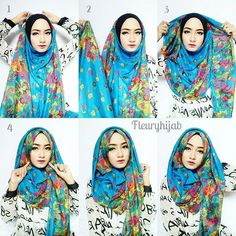 One of the biggest trends on any Fashion Week, aside from the actual cuts and the colors, is the existence of prints. We see all types of prints appear on all pieces.This hijab style shows perfectly how beautiful prints look…