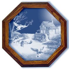 Millpond Mallards Duck Art Large Octagon Mirror