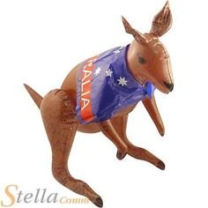 70cm inflatable kangaroo & flag cape #australia #australian #aussie #ashes party,  View more on the LINK: http://www.zeppy.io/product/gb/2/111089587816/