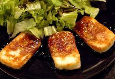 http://www.food.com/recipe/halloumi-cheese-with-caramelised-balsamic-vinegar-59798