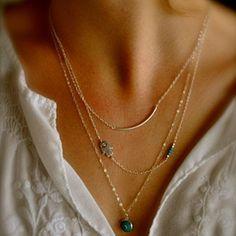'Gaze' - Charm Layered Necklace by MyFashionVille on Opensky