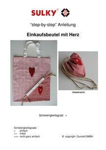 Einkaufsbeutel Einkaufstasche Erdbeere Schnittmuster - Sulky http://blog.sulky-international.com