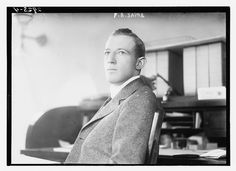 Photo shows professor and U.S. government official Francis Bowes Sayre (1885-1972) who married President Woodrow Wilson's daughter, Jessie Woodrow Wilson (1887-1933) in 1913.