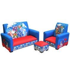 DC Super Friends Deluxe Toddler Sofa, Chair U0026 Otto Furniture Set $139.99