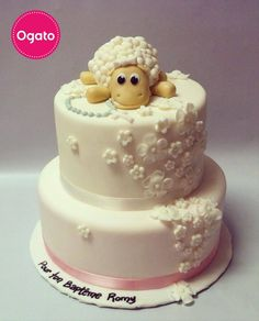 Cute cake with a little sheep by Ogato