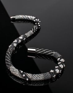 Bead crochet meets Swarovski crystals by Solidbeads